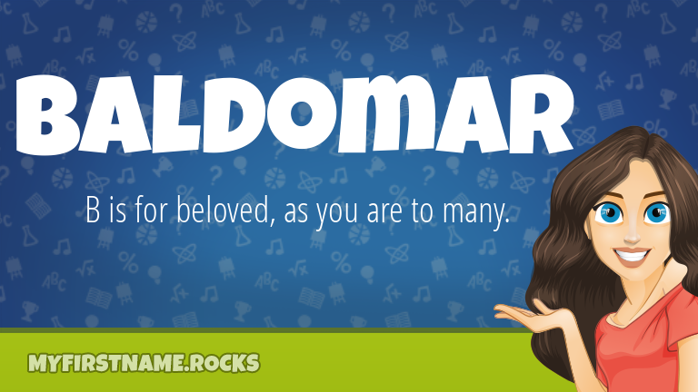 My First Name Baldomar Rocks!