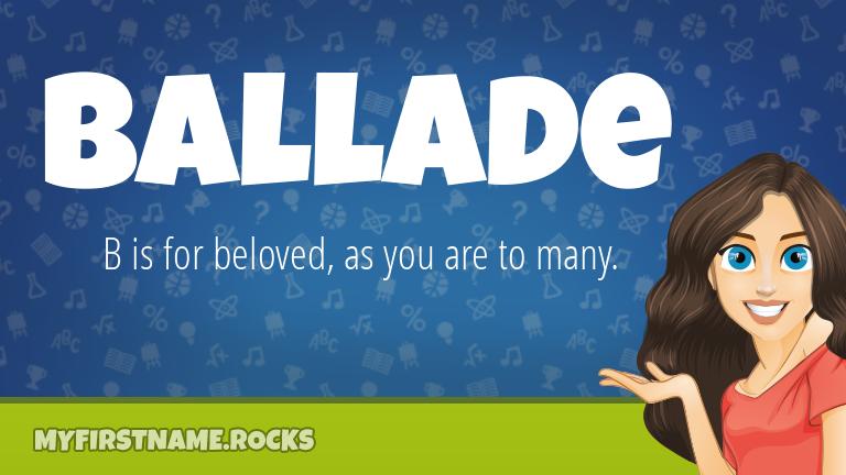 My First Name Ballade Rocks!