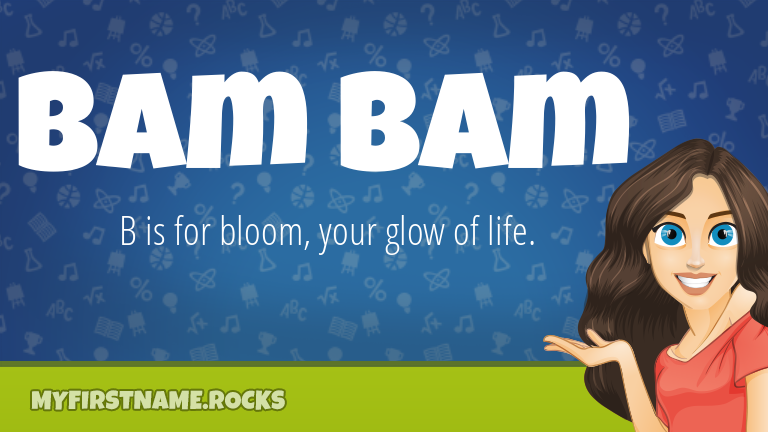 My First Name Bam Bam Rocks!
