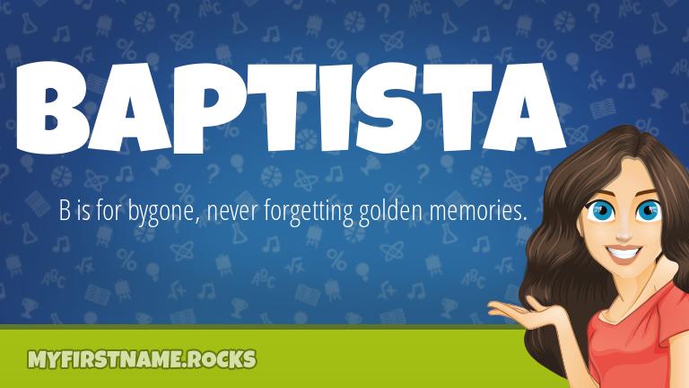 My First Name Baptista Rocks!