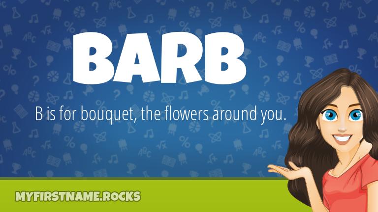 My First Name Barb Rocks!