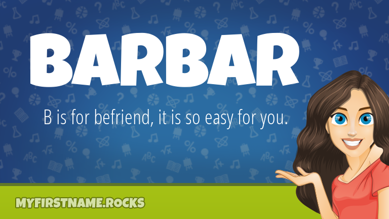 My First Name Barbar Rocks!