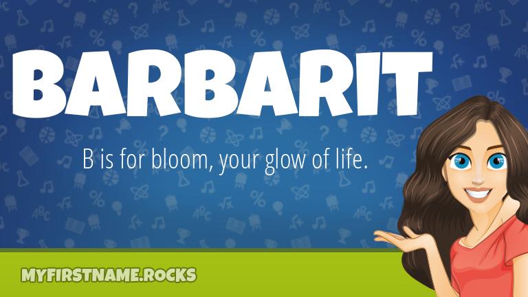 My First Name Barbarit Rocks!