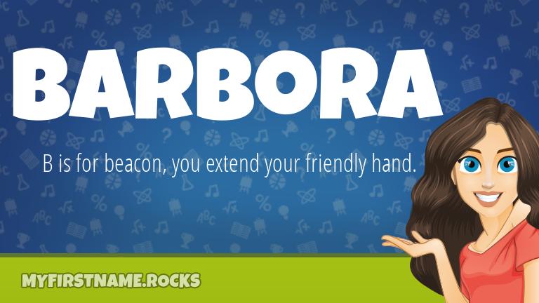 My First Name Barbora Rocks!