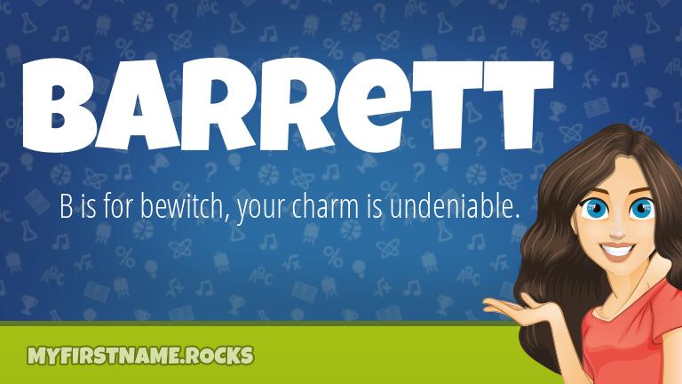My First Name Barrett Rocks!
