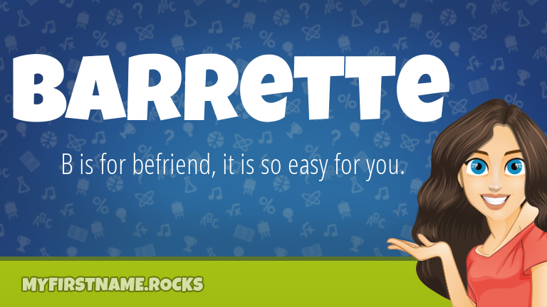 My First Name Barrette Rocks!
