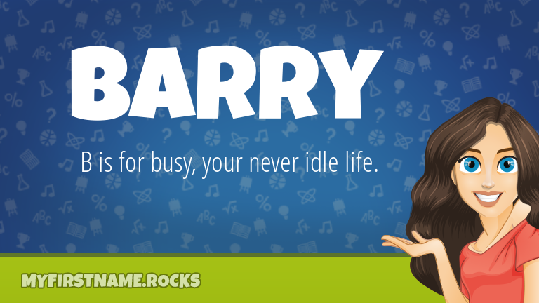 My First Name Barry Rocks!