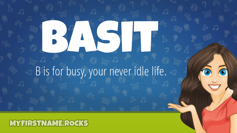 My First Name Basit Rocks!