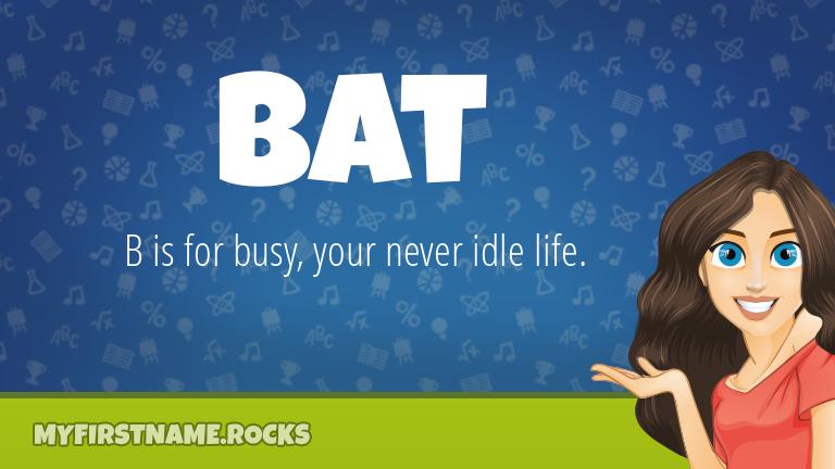 My First Name Bat Rocks!