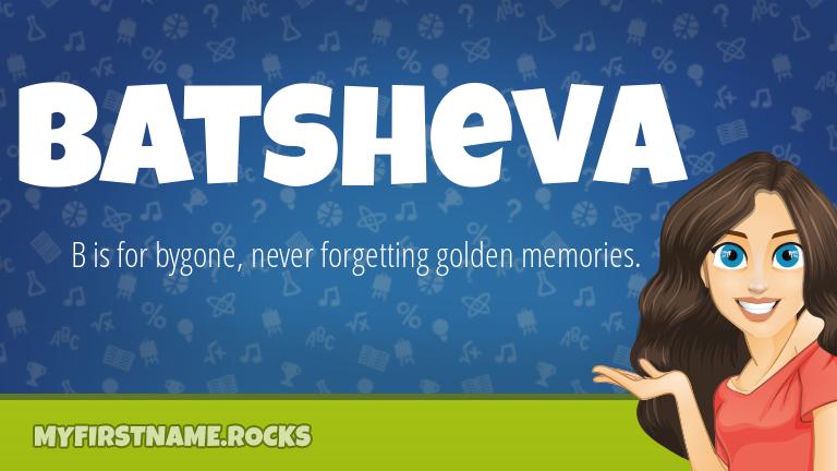 My First Name Batsheva Rocks!