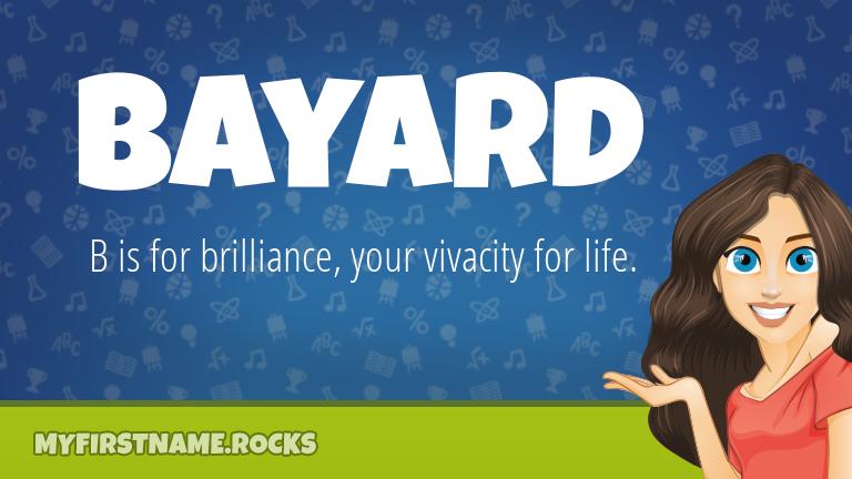 My First Name Bayard Rocks!