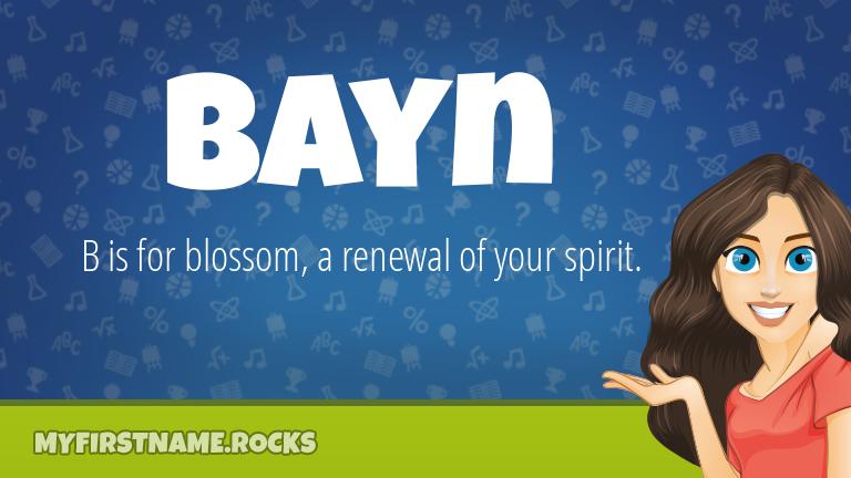 My First Name Bayn Rocks!