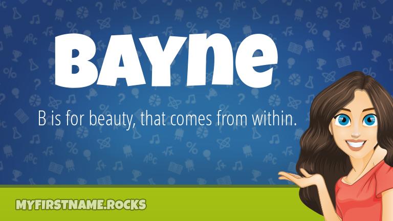 My First Name Bayne Rocks!