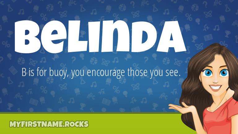 My First Name Belinda Rocks!