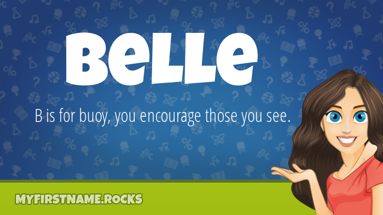 My First Name Belle Rocks!