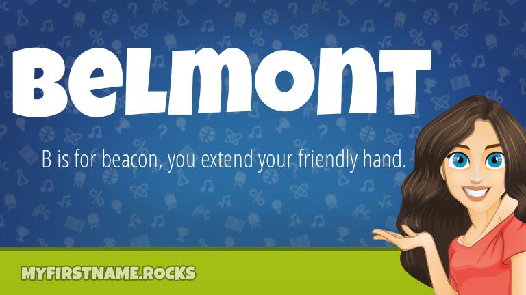 My First Name Belmont Rocks!