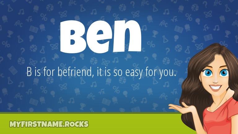 My First Name Ben Rocks!
