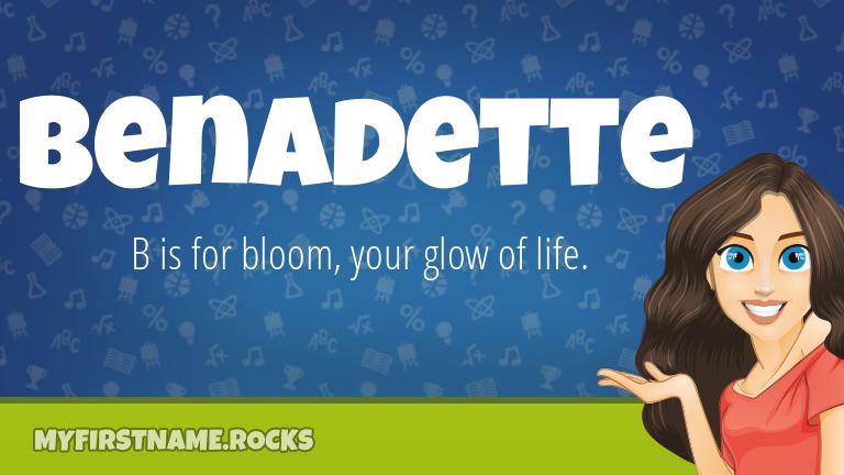 My First Name Benadette Rocks!