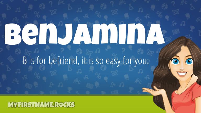 My First Name Benjamina Rocks!
