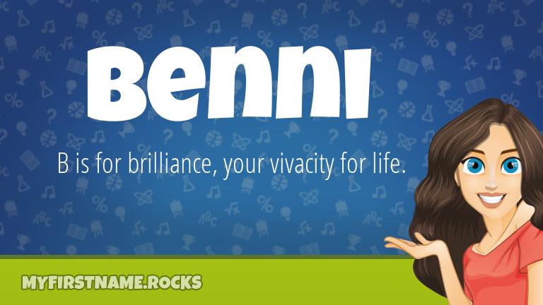 My First Name Benni Rocks!
