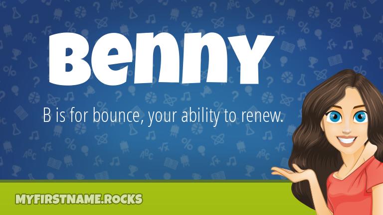 My First Name Benny Rocks!