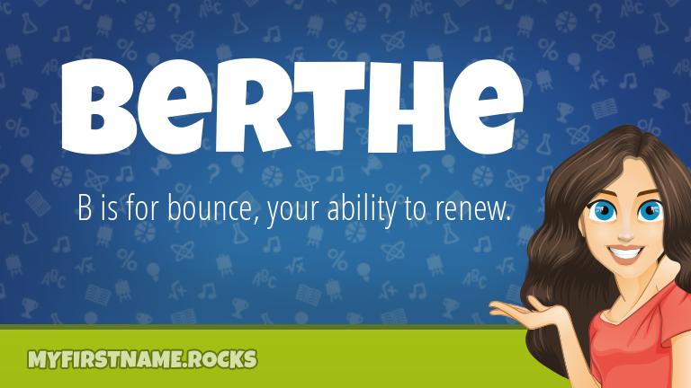My First Name Berthe Rocks!
