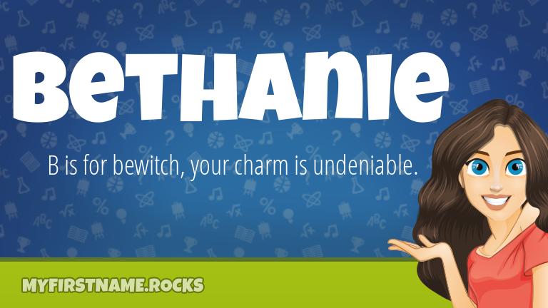My First Name Bethanie Rocks!
