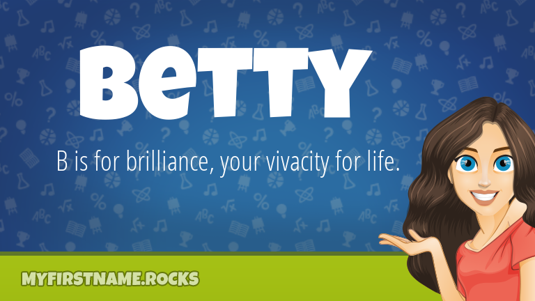 My First Name Betty Rocks!