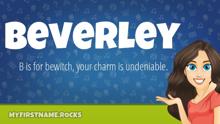 My First Name Beverley Rocks!