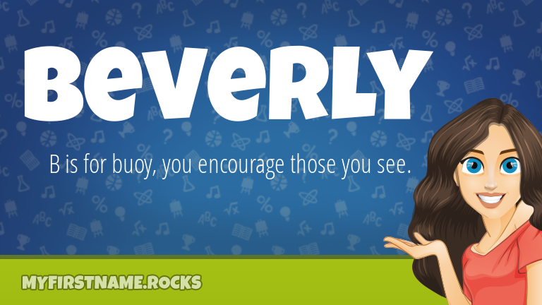 My First Name Beverly Rocks!