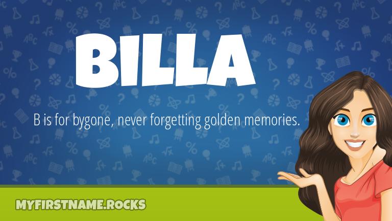 My First Name Billa Rocks!