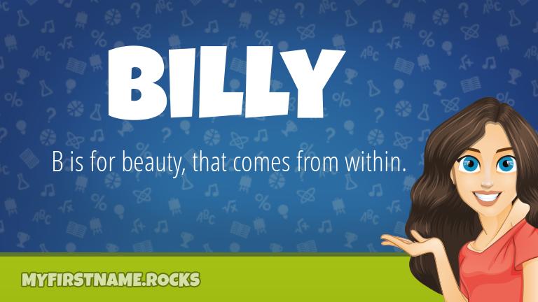 My First Name Billy Rocks!