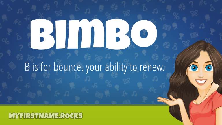 My First Name Bimbo Rocks!