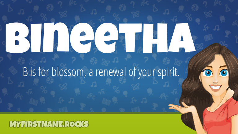 My First Name Bineetha Rocks!