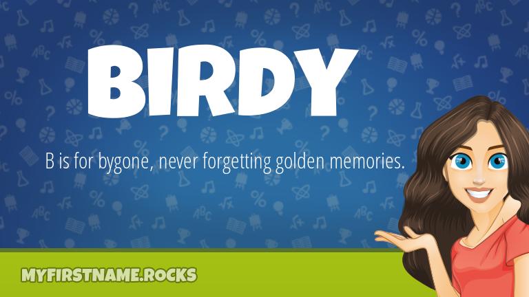 My First Name Birdy Rocks!