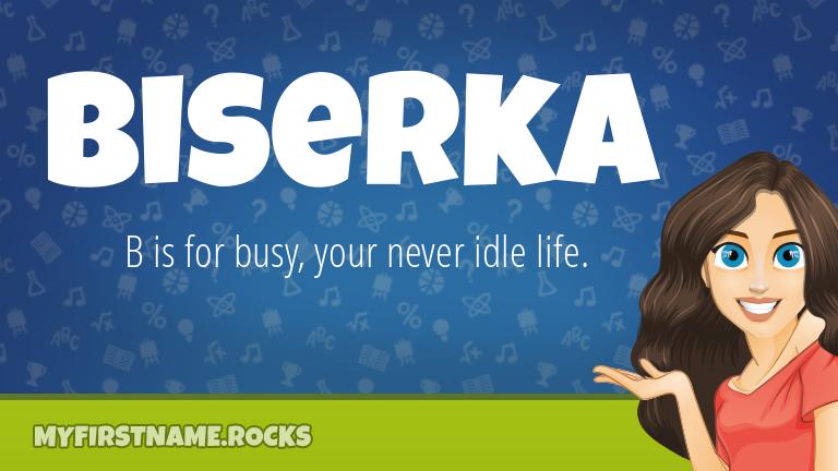 My First Name Biserka Rocks!