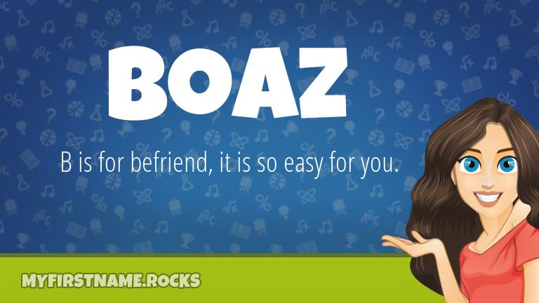 My First Name Boaz Rocks!