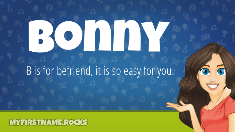 My First Name Bonny Rocks!