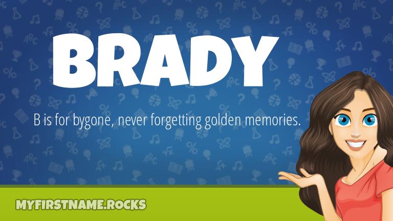 My First Name Brady Rocks!