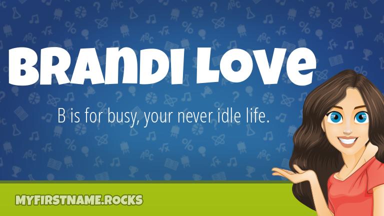My First Name Brandi Love Rocks!