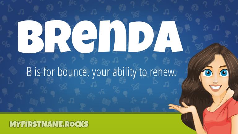 My First Name Brenda Rocks!