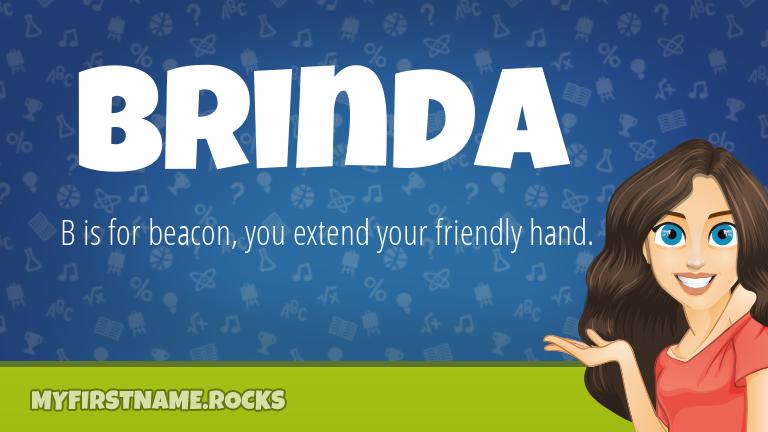 My First Name Brinda Rocks!