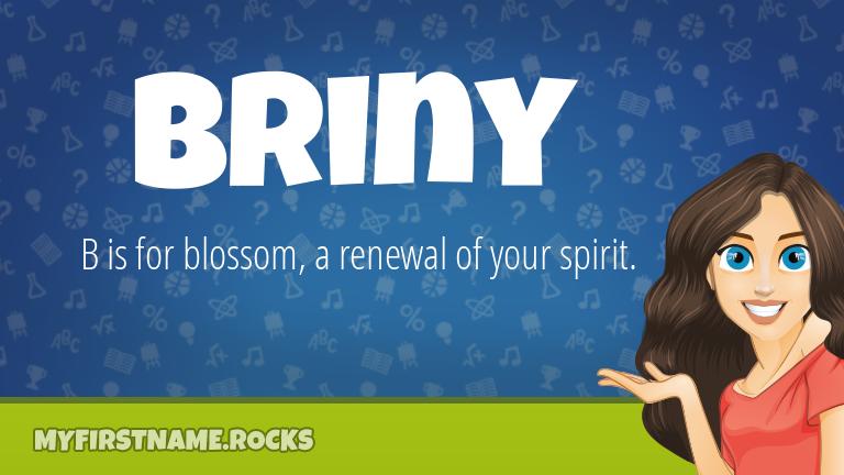 My First Name Briny Rocks!