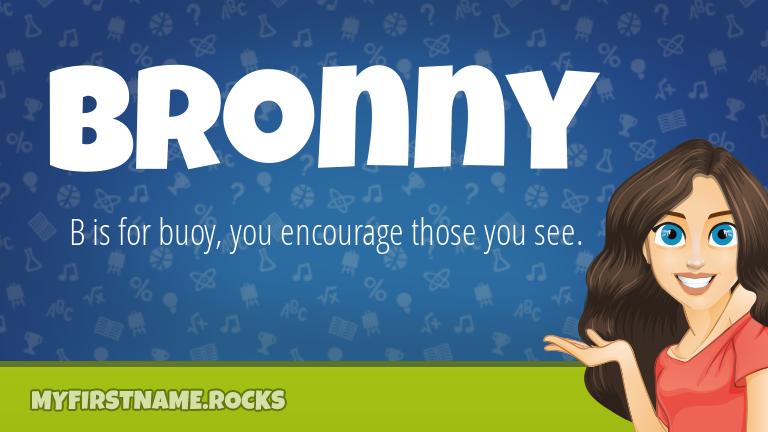 My First Name Bronny Rocks!