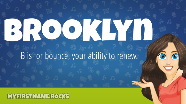 My First Name Brooklyn Rocks!
