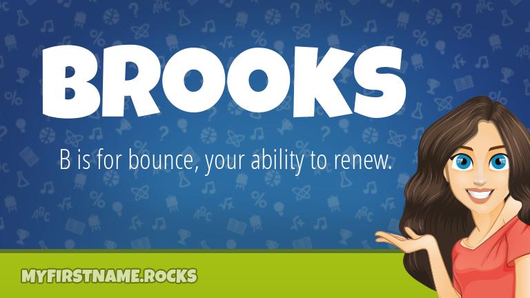 My First Name Brooks Rocks!