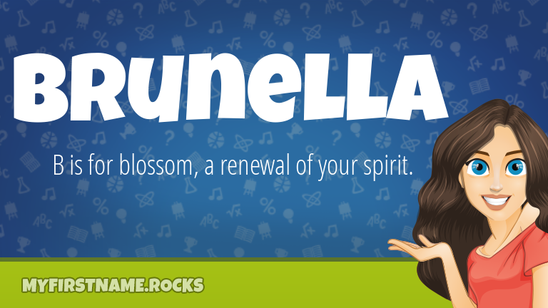 My First Name Brunella Rocks!