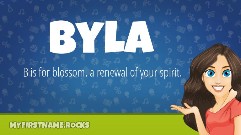 My First Name Byla Rocks!