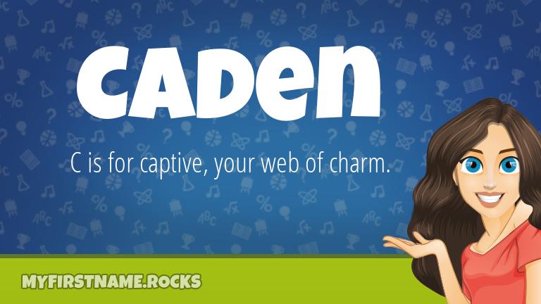 My First Name Caden Rocks!