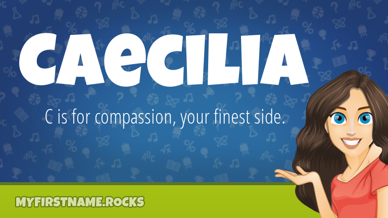 My First Name Caecilia Rocks!